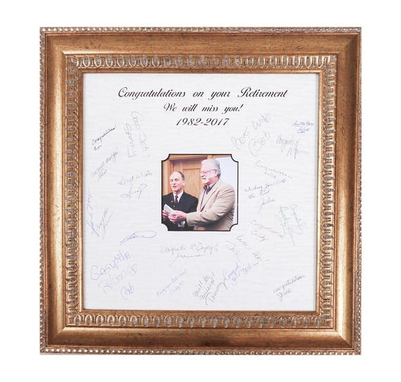 Retirement Frame Gift-Signature Mat Frame-Marriage Ceremony
