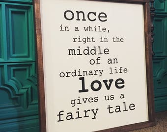 Fairytale solid wood sign