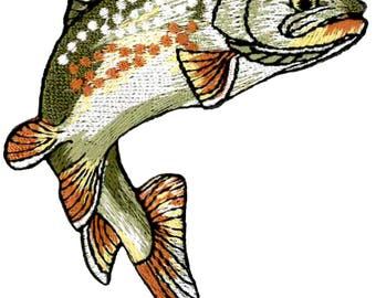 Fishing - Golden Trout - Fish - Embroidered (RIGHT) Iron on Patch - Style B