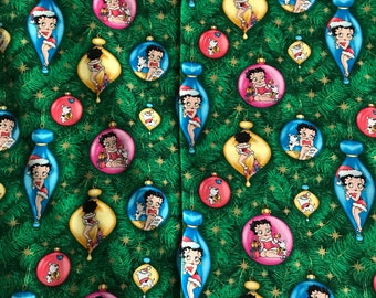 Betty Boop Christmas Fabric by the Yard