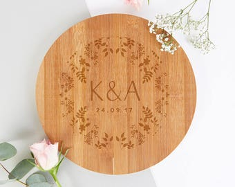 5th Wedding Anniversary Gift Personalised Wooden Chopping Board