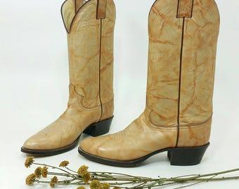 Men's Size 7 1/2 Cowboy Boots Justin Tan Womens 9