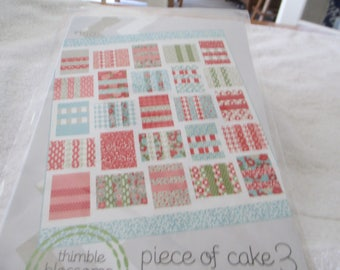 """Paper Pattern for a quilt called Piece of Cake 3 by Thimble Blossoms 74"""" x 64"""""""