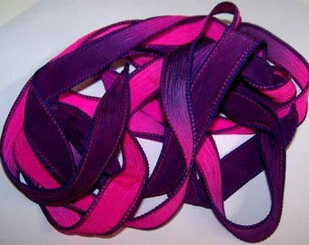 Discontinued/Experimental Silk Ribbon Sale/See Description/Sorry No Custom Orders/ Silk N' Sassy Ribbons 100-1194