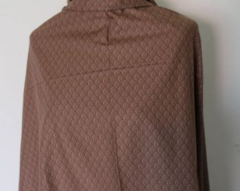 Brown cotton fabric Japanese with waves