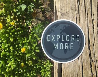 Explore More Travel Quote | Vinyl Sticker Design