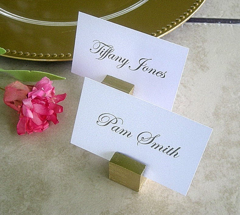 gold place card holders handmade wood rustic wedding table number holders silver gold card holders gold