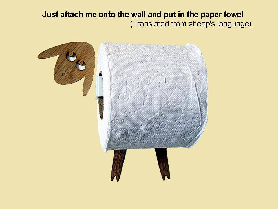 Sheep shelf a wall shelf for storing toilet paper rolls - Arbre rouleau papier toilette ...