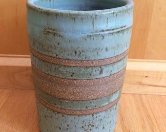 studio pottery utensil crock / mid century
