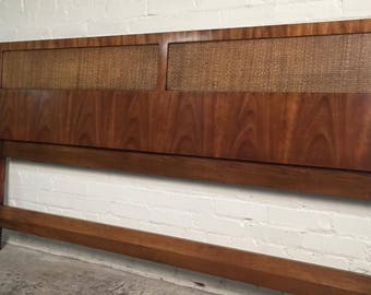 Beautiful Mid-Century Modern King Size Headboard - SHIPPING NOT INCLUDED