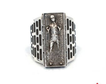 ON SALE Han Solo in Carbonite Ring