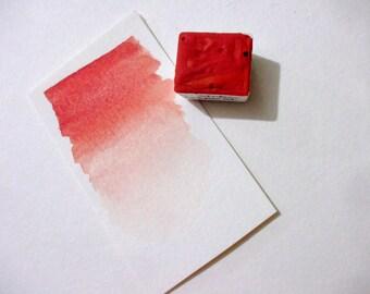 Natural Cinnabar  - Handmade Watercolor Paint - Gemstone Paint - Artist Gift - Art Paint - Handcrafted Professional Watercolour