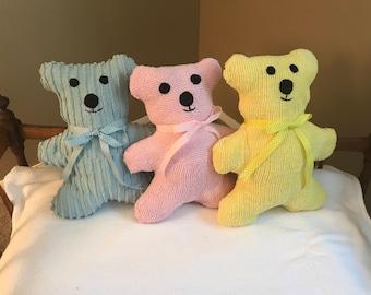 "Pastel old fashion 15"" chenille bear"