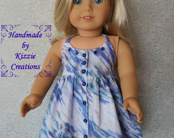 18 Inch Doll Dress, Doll Couture, Kizzie Creatons, 18 Inch Summer Doll Dress,