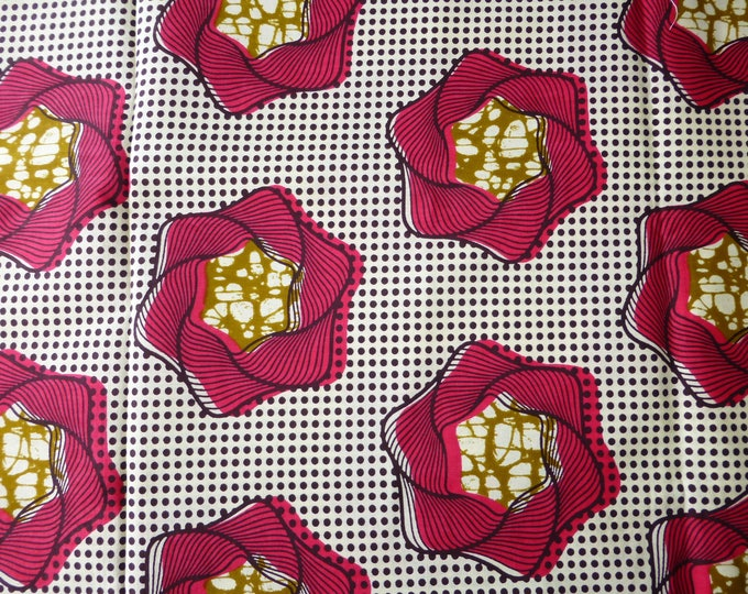 African Fabrics Mitex Holland Block Wax Print Cotton Fabrics For Dress &Craft Making Sewing Fabric/Kitenge/Pagnes/Kikwembe  Sold By Yard