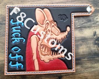 Hand Tooled Leather Rat Finker Wallet
