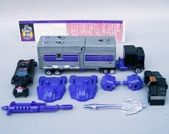 Vintage G1 Transformers Motormaster 100% Complete plus Tech Specs C8
