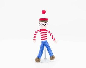 Where is Waldo? Amigurumi Stuffed Creature