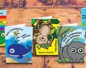 Children's birthday cards: Dual language / bilingual – multi-pack of 5 / French / Greek / Polish / French / Italian / Spanish
