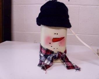 snowman ball jar light