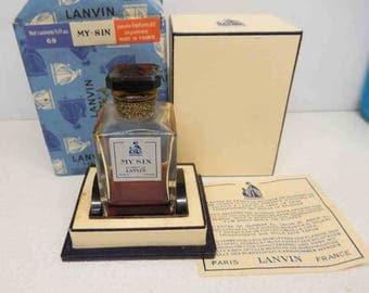 1940s lanvin My Sin Perfume with Original Wrapping paper Sealed