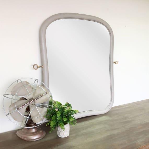 Shabby Chic Mirror - Fixer Upper Decor - Decorative Wall Mirror - Vintage Home Decor - Unique Wall Mirror - Country Cottage Decor