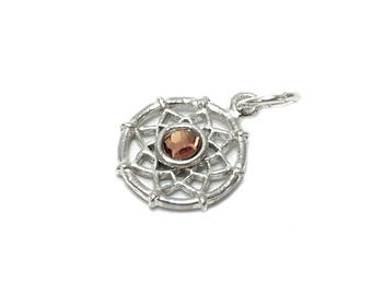 Sterling Silver Dreamcatcher Birthstone November Charm For Bracelets