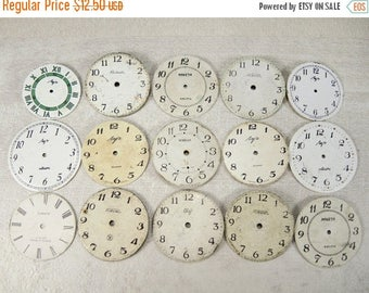 ON SALE Vintage Watch Faces - set of 15 - c48