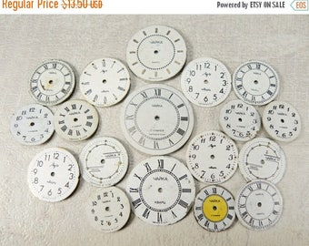 ON SALE Small Watch Faces - set of 18 - c44