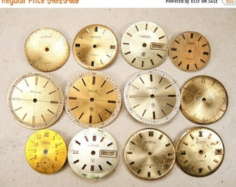 ON SALE Vintage Watch Faces - set of 12 - c38