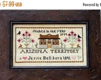25% OFF SALE Little House Needleworks Jessie Bell Arizona Territory Counted Cross Stitch Pattern