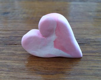 Polymer Clay Chunky Pink Valentine's Day Heart