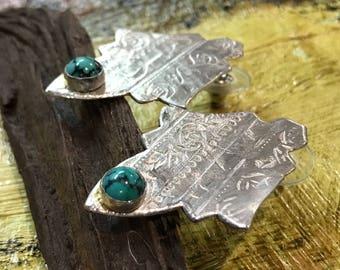 Sterling Silver Art Deco Earrings