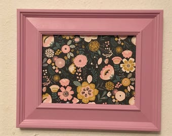 Picture Frame Upcycled Handpainted Pink , 6x8 Frame , Farmhouse Decor , Baby's Room Decor , Bedroom Decor , Gift for her