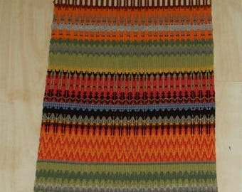 Swedish hand woven wall hanging / gubbaväv / figurines / Bethlehem  /rare