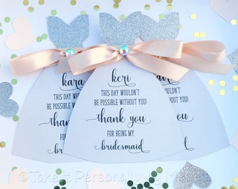 Thank you for being my bridesmaid will you be my bridesmaid bridal party thann you note