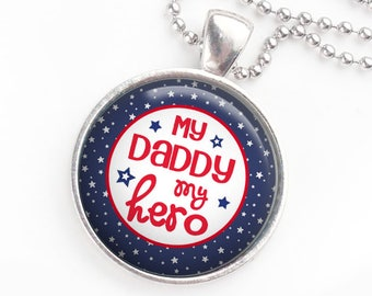 Homecoming necklace - Military daddy - Daddy's girl - Move over - My daddy is coming home - My daddy is my hero - Welcome  home - Army -Navy