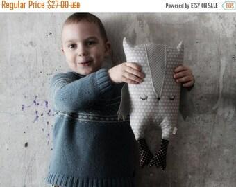 CHRISMAS IN JULY 20-26.07 Stuffed sleepy owl toy, primitive safe stuffed bird 16'/40 cm baby shower gift nursery decor throw pillow cushion