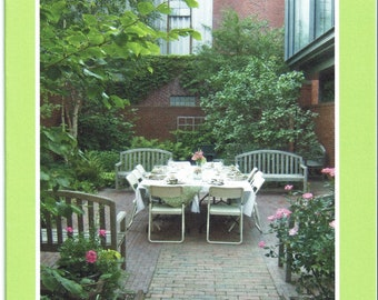 Dinner in the Longfellow Garden - photo card