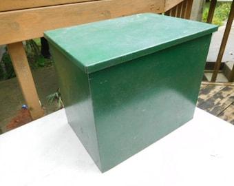 Vintage  Metal Milk Box