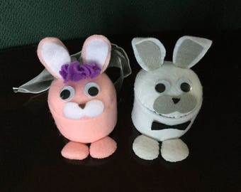 Felt Easter bunny boxes (set of two)