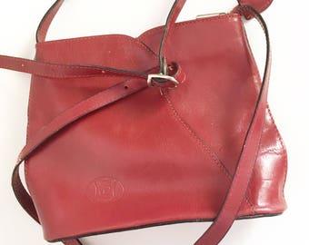 brown leather boho handbag