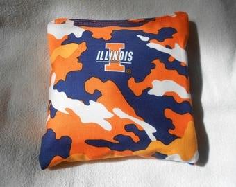 Illinois Camo  Cornhole Bags