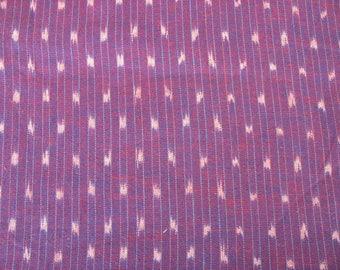 Purple Yarn Dyed Close Knit Cotton Ikat  Fabric Sold by Yard