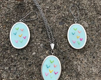 Sprinkles Earring and Necklace Set Summer Jewelry