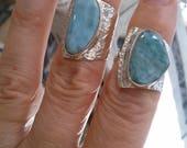Rings Gorgeous LARIMAR Adjustables Sterling Silver with LARIMAR Gemstones