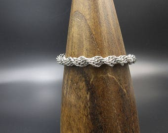 Dual Spiral Chainmaille Stainless Steel Bracelet