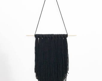Available Now - Handmade Tapestry / Yarn Wall Hanging - Midnight Black