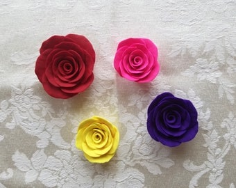 Polymer Clay Roses - Handmade