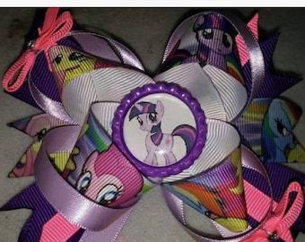 My Little Pony Custom Hair Bow
